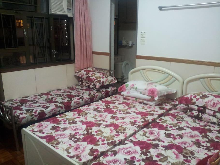 獨立衛生間的三人房 Triple Bed Room with Independent Washroom
