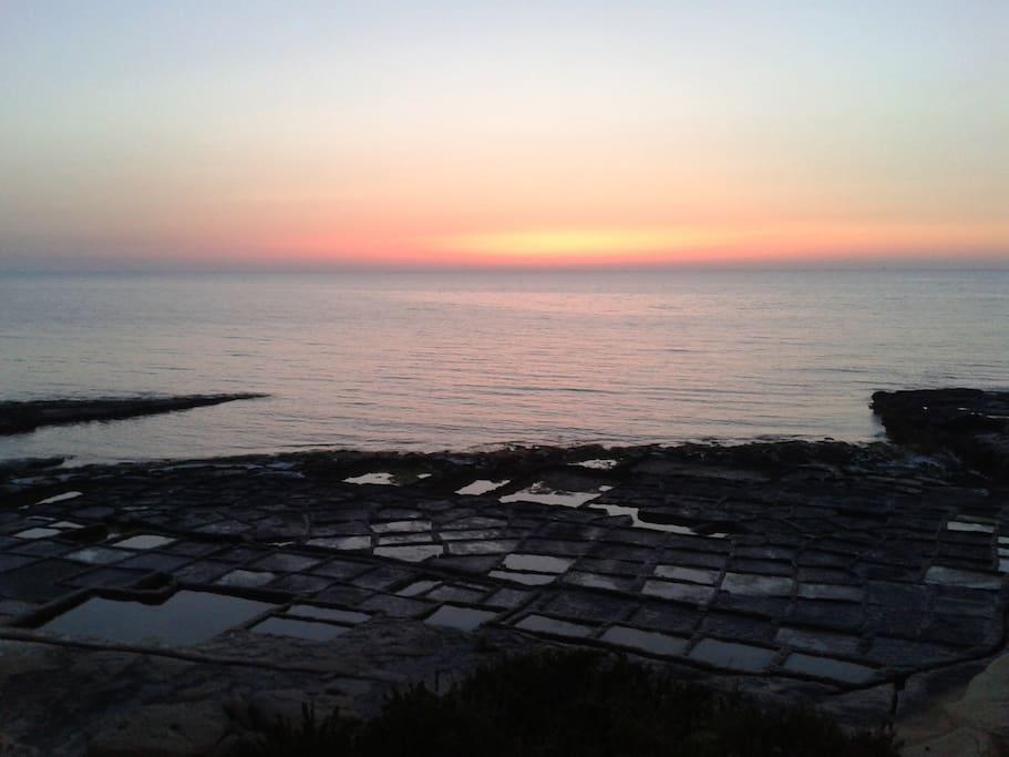 Sunrise over Marsascala