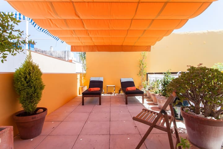 D plex con terraza privada en casco antiguo apartamentos for Alquiler de apartamentos en sevilla centro