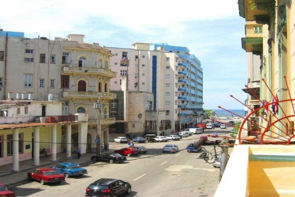 View of Infanta st  just 2 block from the Malecon