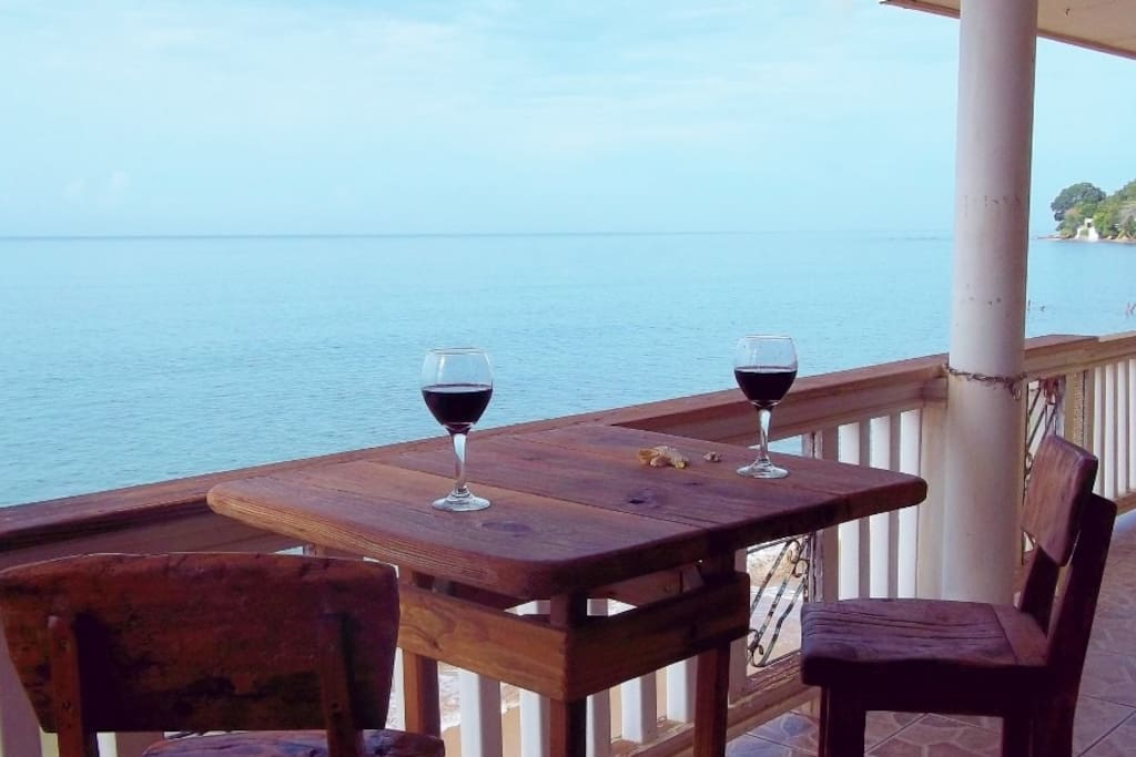 See dolphins, whales, pelicans and sunsets from your patio