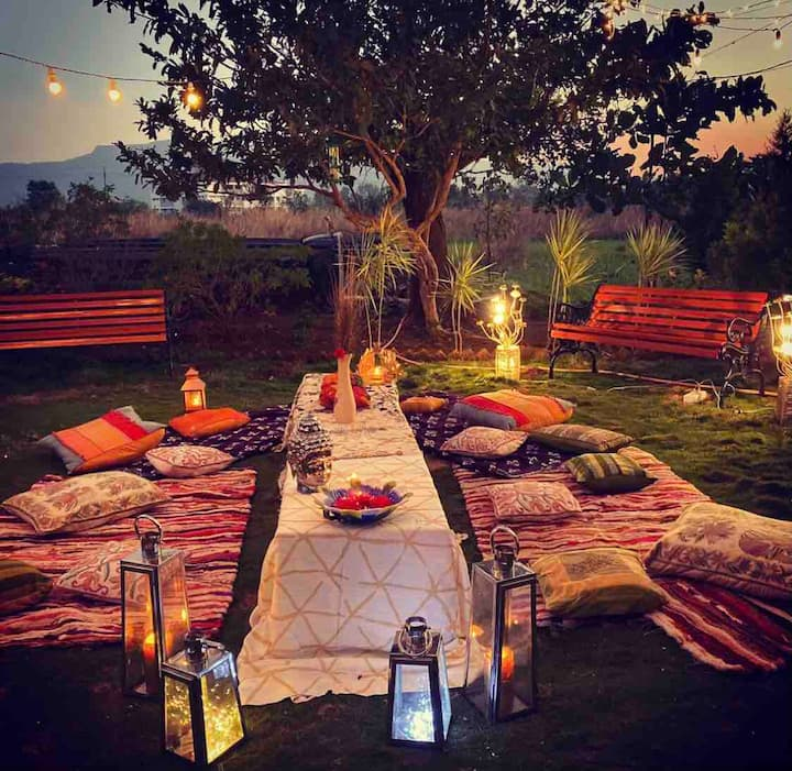 Peaceful Beautiful Space, Lawn, Pool | Tasty Food