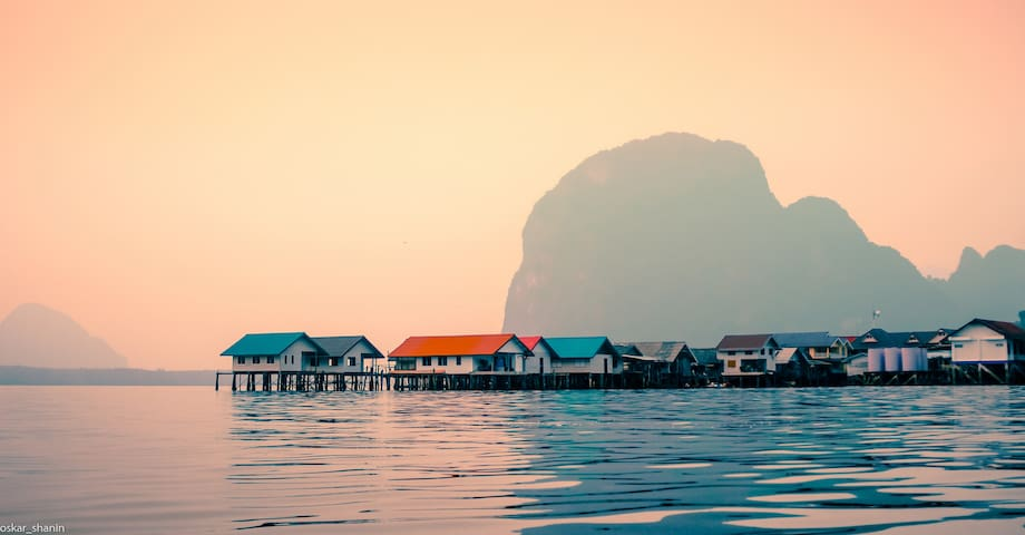 at Koh Panyi muslim village, built in the middle of the sea