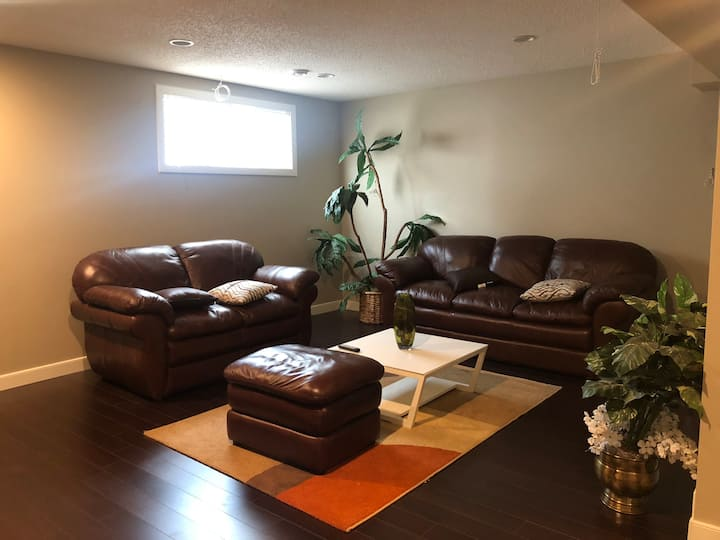 Modern full basement with one bedroom
