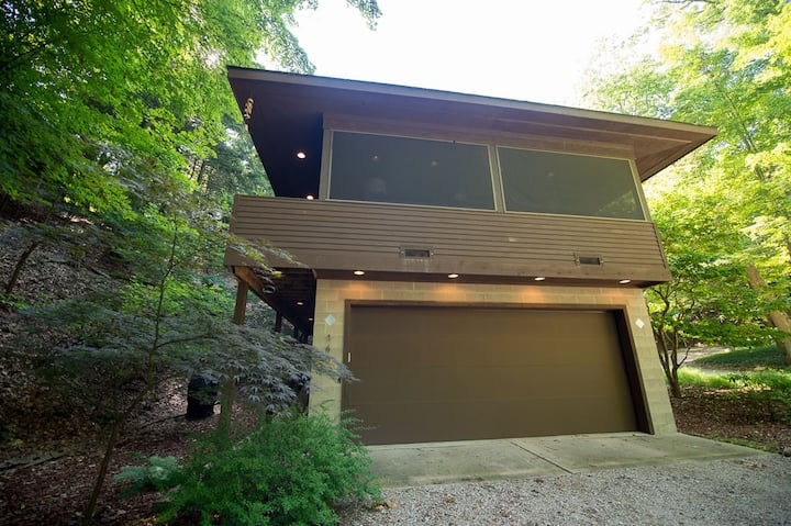 Modern dwelling in the woods