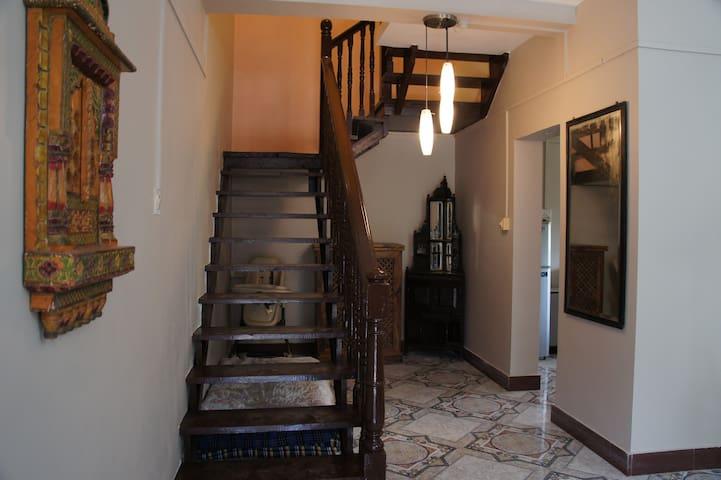 stairway to bedroom