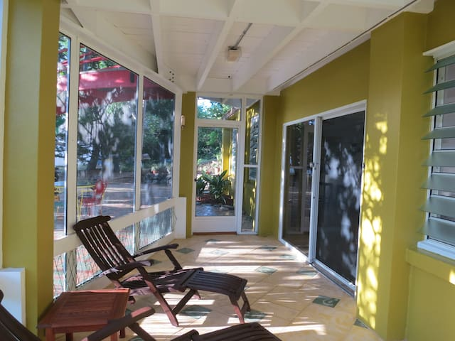 Screened in patio