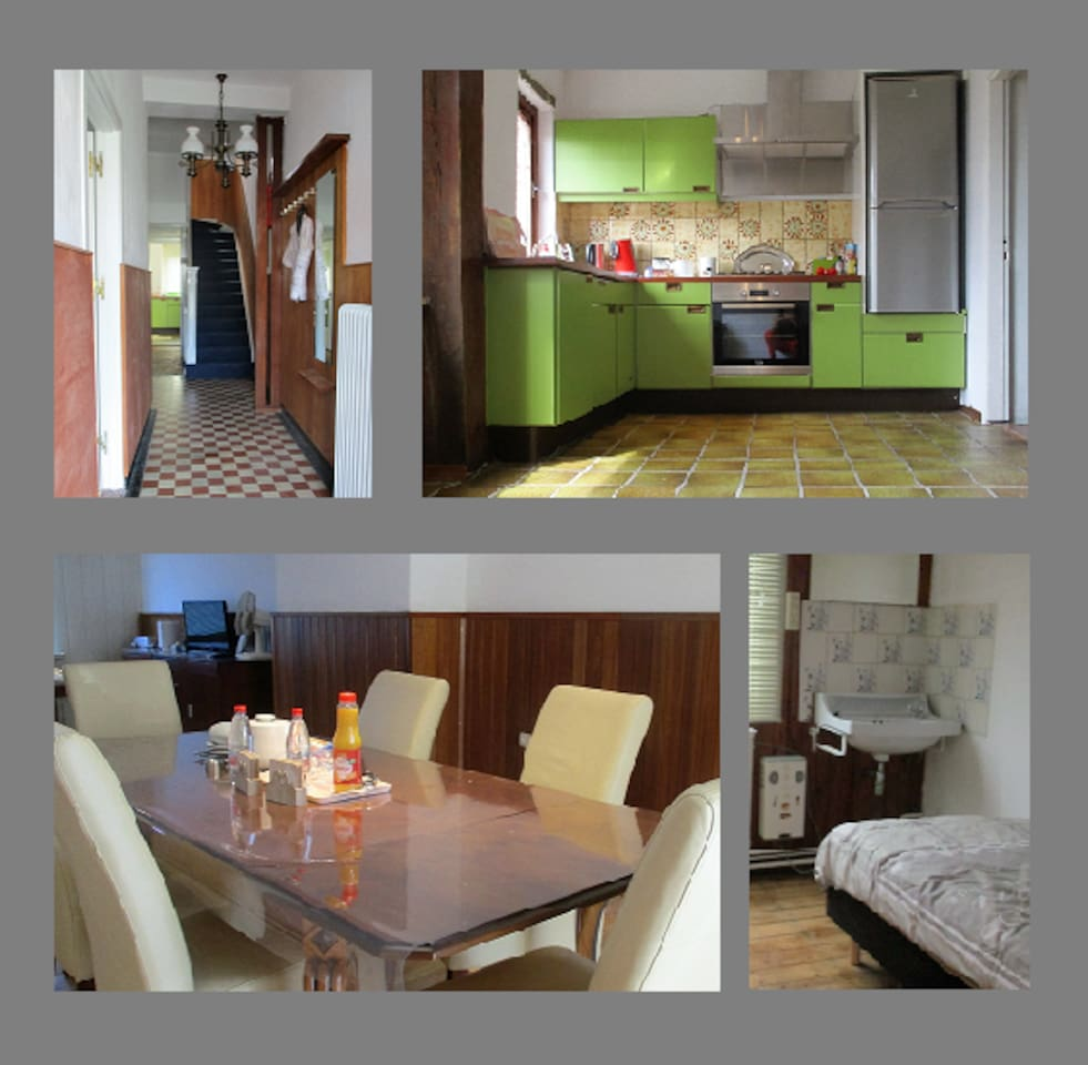 2-12 persons with 6 bedrooms 12 boxspring beds. By arrival the beds are made. Free wifi and free parking at front door. City Brunssum free parking whole area Brunssum.