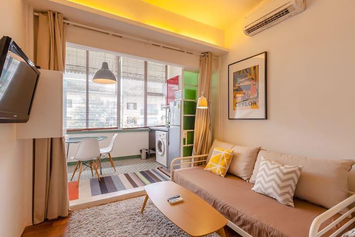 M - Spacious city studio 4mins to mrt - Singapore - Lägenhet