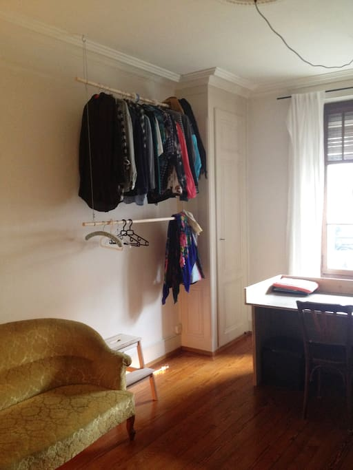 Room to hang your clothes