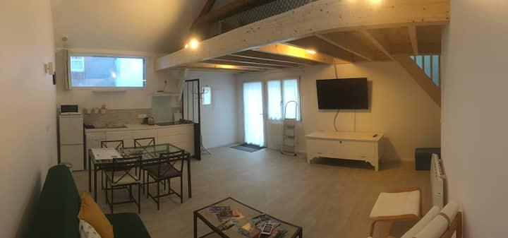Micro maison accueillante centre ville de Nantes.