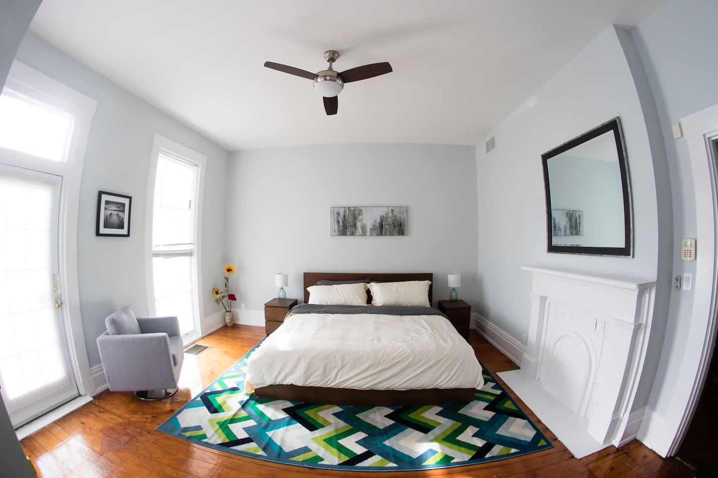 Newly furnished bedroom with king bed!