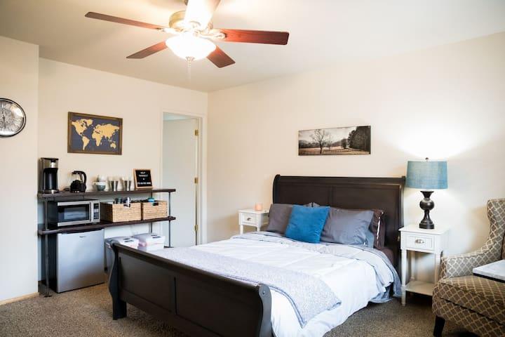 Master Bedroom With In-Room Bathroom & Kitchenette
