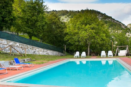 Farmhouse villa, private pool & panoramic views - Corfino - Maison