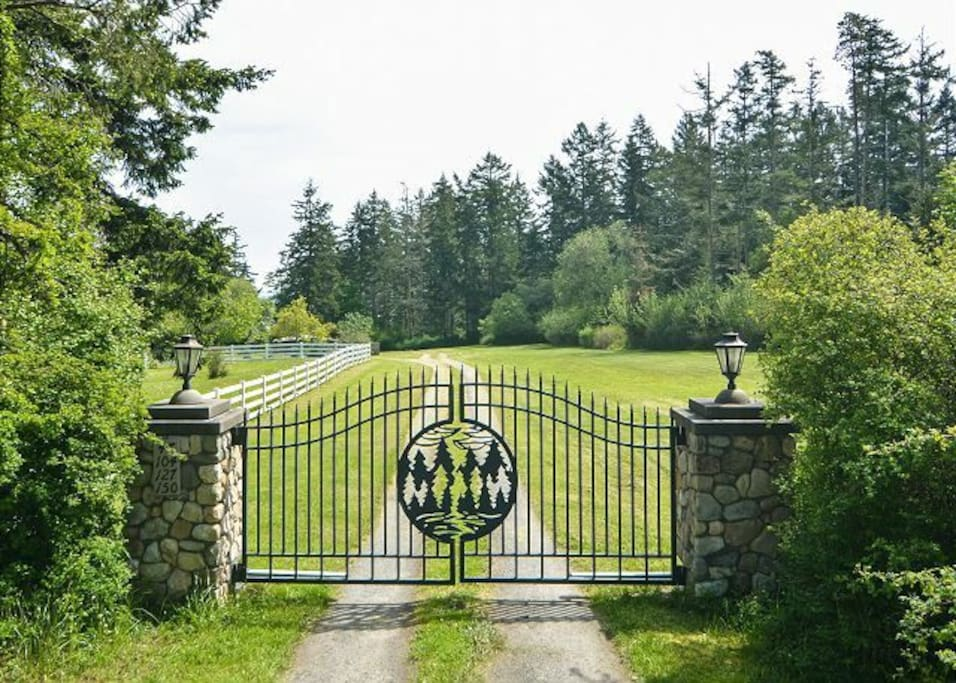 Gated entry to the property