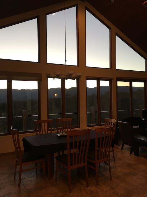Great views from dining room and kitchen