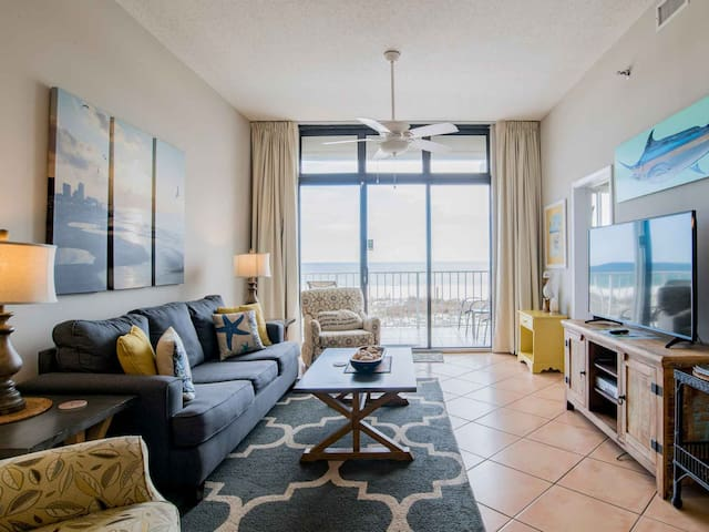 Updated Beachfront Condo is Orange Beach. Sitting on the Sand! Beachfront Pool and Indoor Pool!