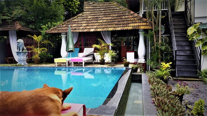 Villa upstairs  with private pool, Sky retreat