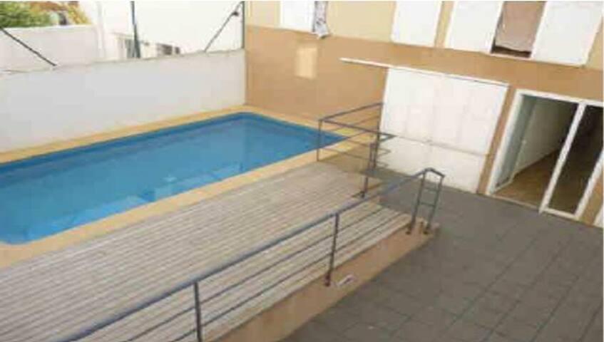 Habitación doble con baño privado y terraza - Ciutadella de Menorca - Lägenhet