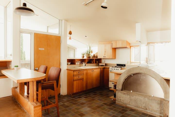 Eat-in kitchen.