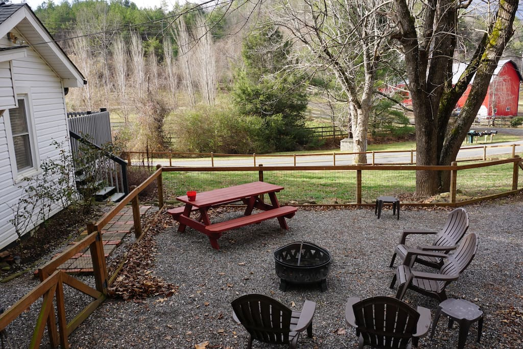 Outside Fire Pit Seating Area
