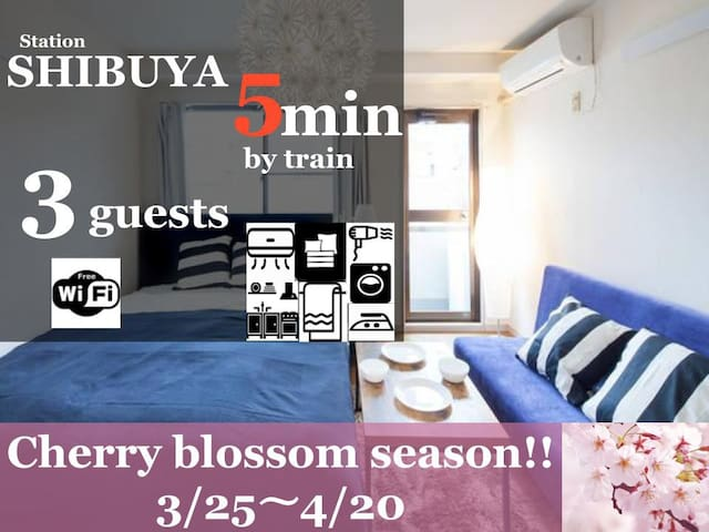 FF17 5min to Shibuya!/5min walk to closest STN - Setagaya