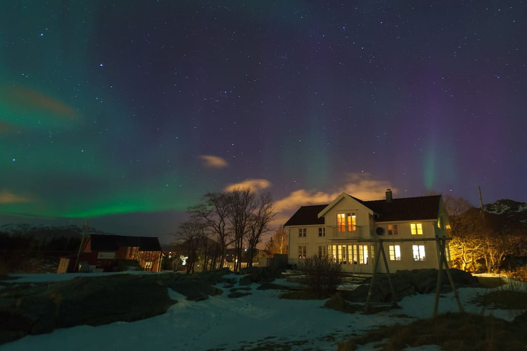Villa outside Northern light