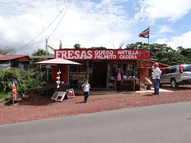 Small store in the way of Poas Volcano