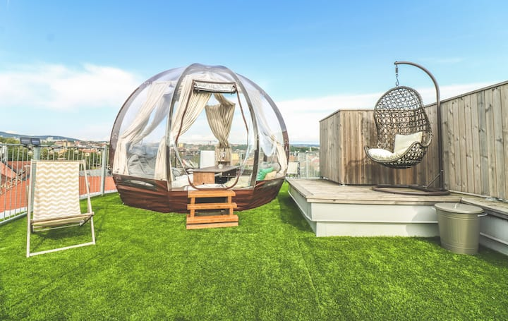 ❤️Glamping@CityCenter Penthouse w/Jacuzzi+Parking✨