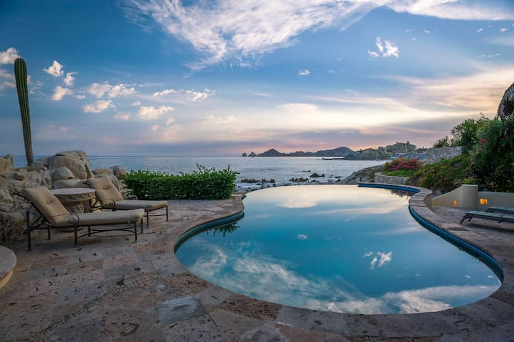 Enjoy a spectacular view of the Sea of Cortez off the terrace of Villa Punta Serena