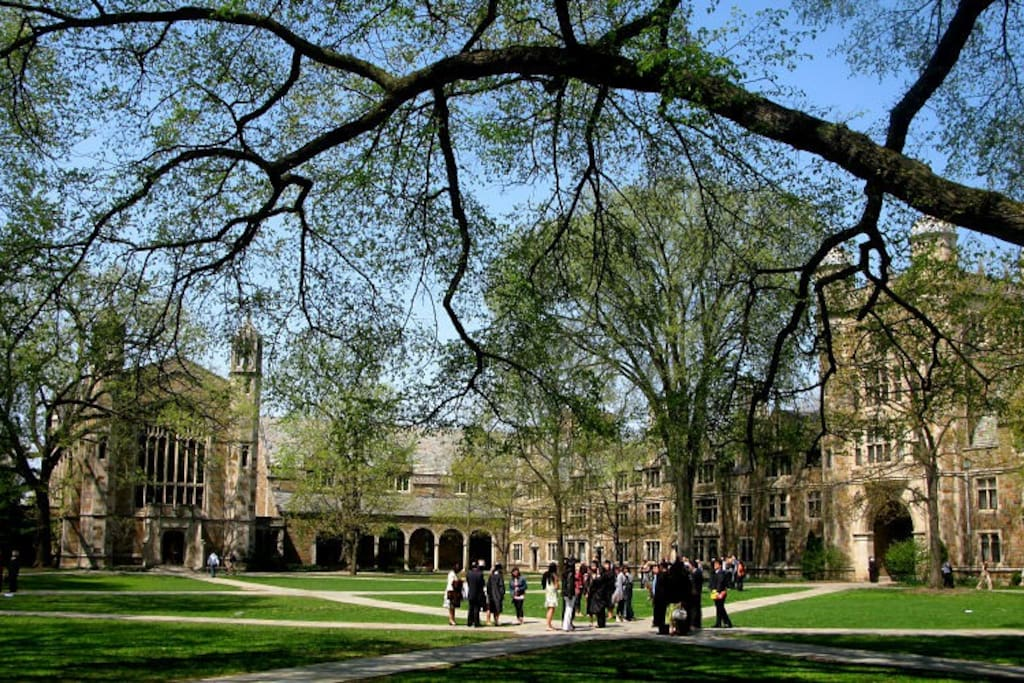 The central campus of the University of Michigan is a short 16-minute walk..