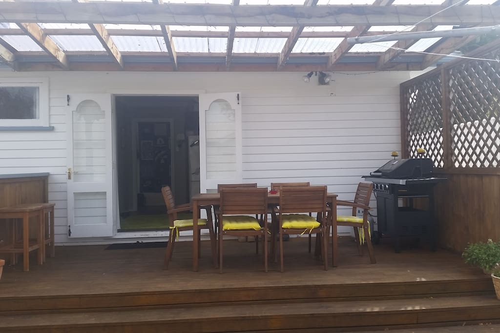 outdoor area around the back