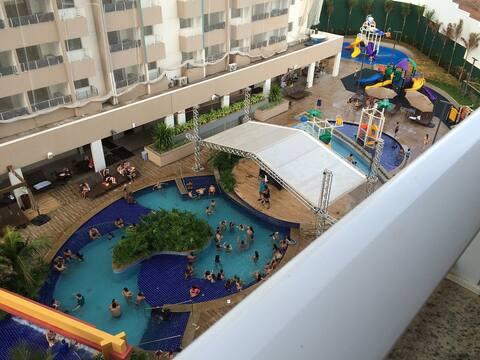 Excelente AP p/8 pessoas - Enjoy Olímpia Resort SP