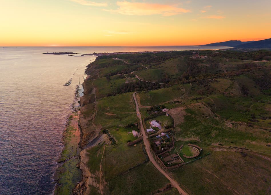 Drone photo of the property, Tarifa town in back ground only 2km distance.