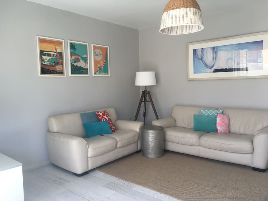 Comfortable lounge room with Apple TV and FOX