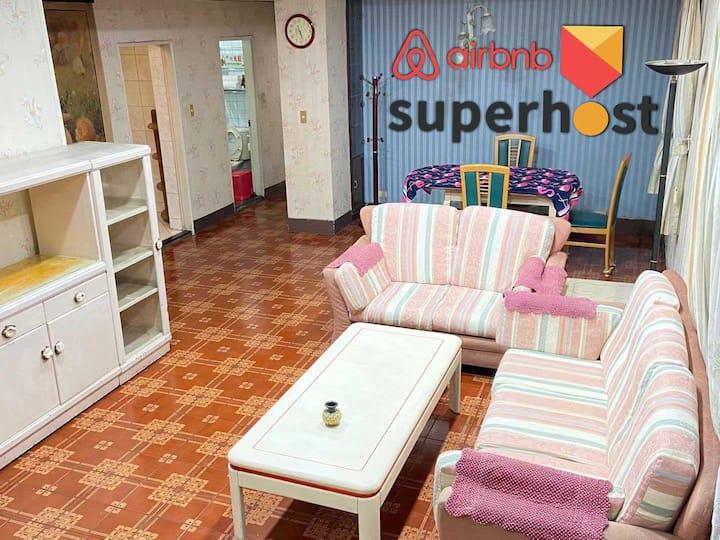 Sogo商圈芝山捷運站旁三房一廳溫馨跨年公寓