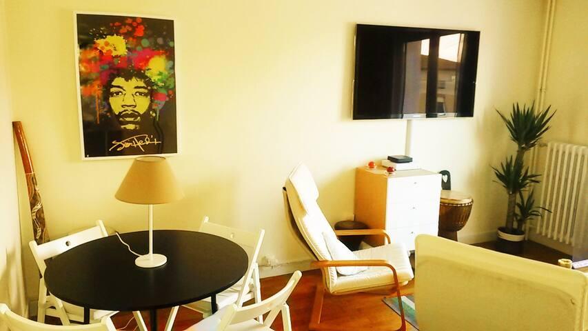 Chambre 16m2 en plein coeur du 7ème - Lyon - Apartemen