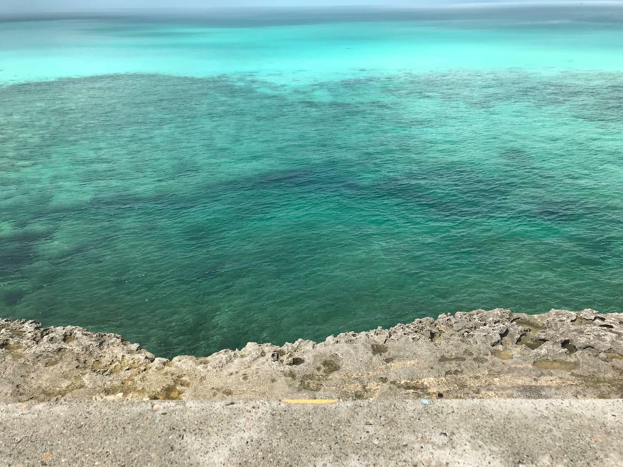 Bahama Bank side of Glass Window Bridge, Eleuthera