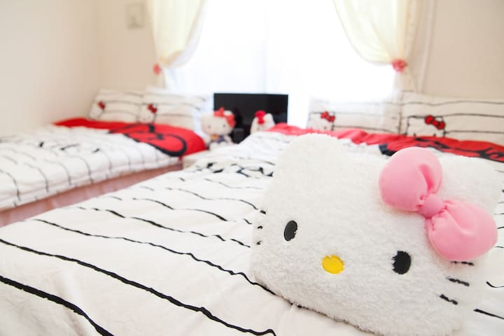 Kitty room at central Namba WiFi - Ōsaka-shi - Wohnung