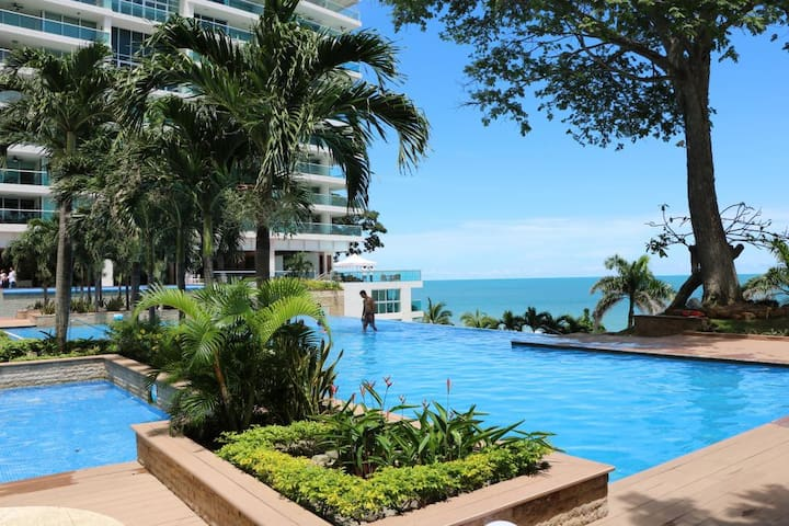 Exclusive Beachfront Condo in Nueva Gorgona
