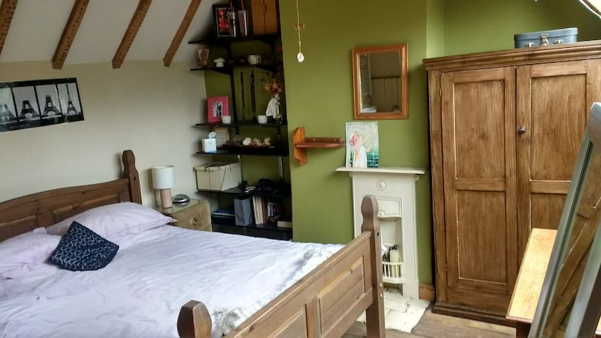 Self-Contained Bedroom and Living Room in Cottage