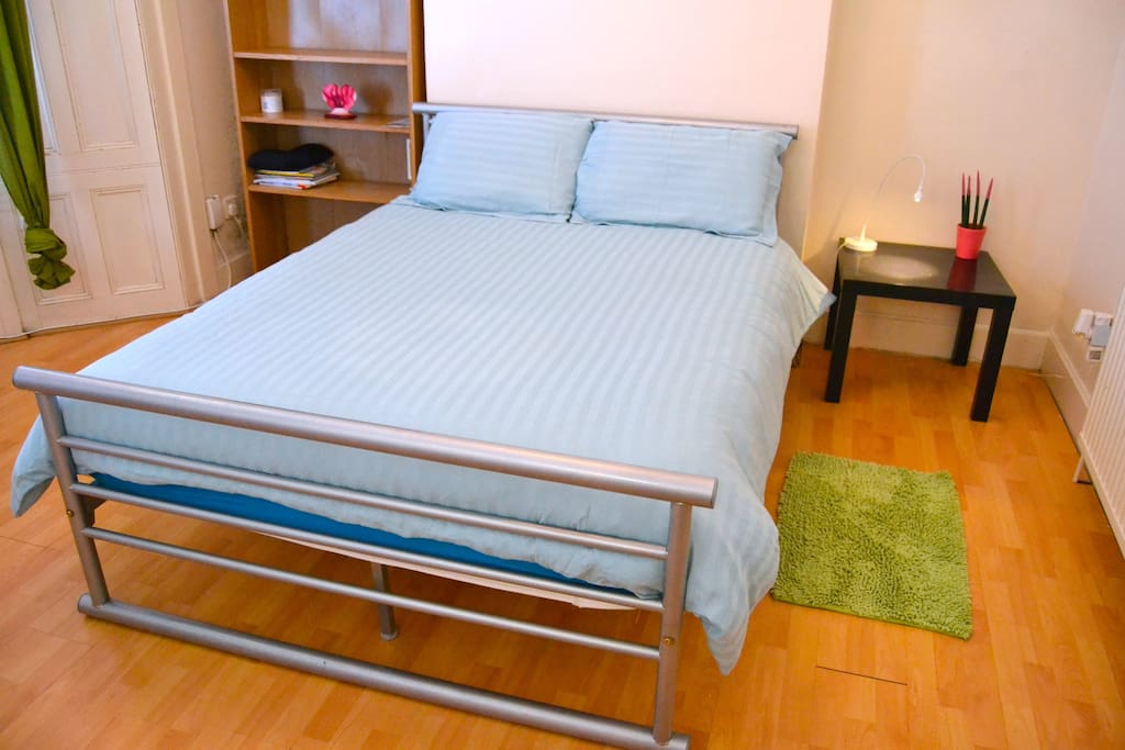 very bright and huge double room