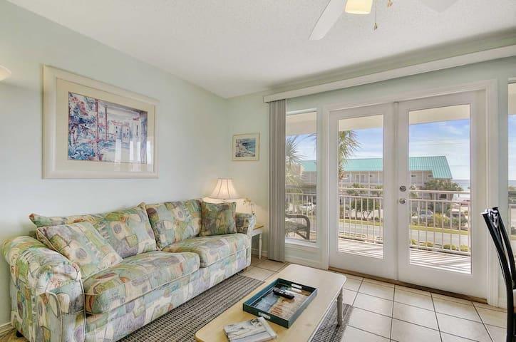 Living Room opens onto Spacious Balcony