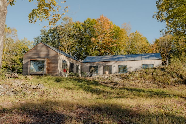 Modern, designed farmhouse on secluded 60 acres