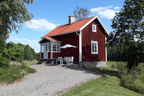 Cottage in Sparreholm with a fireplace