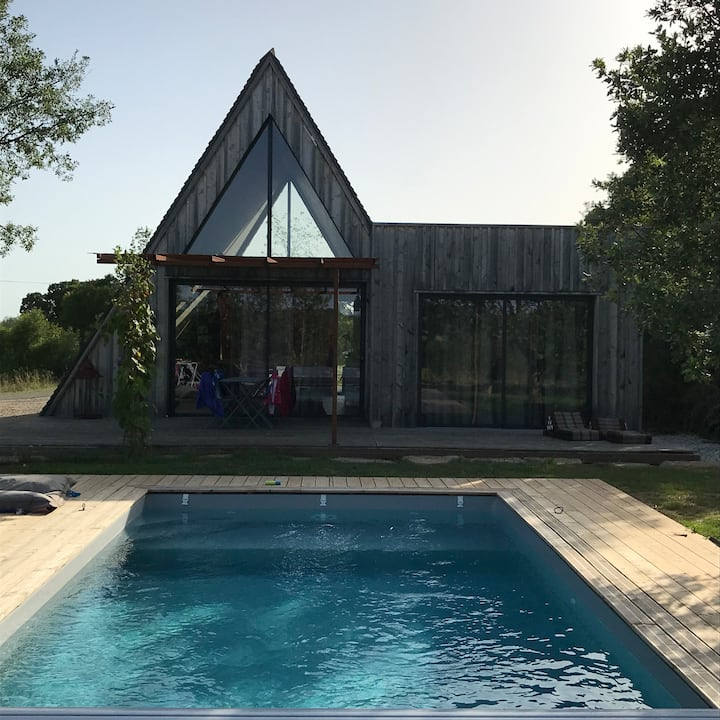 Wooden Lodge with private pool -South West France