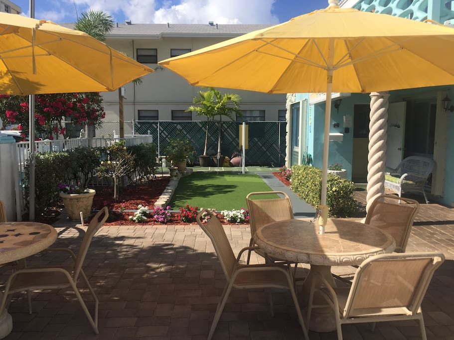 Come relax on our tropical patio...