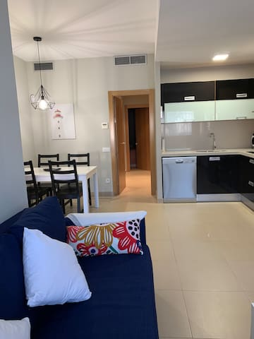 Salon con sofa-cama
