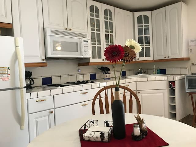 Kitchenette is open to the main living area
