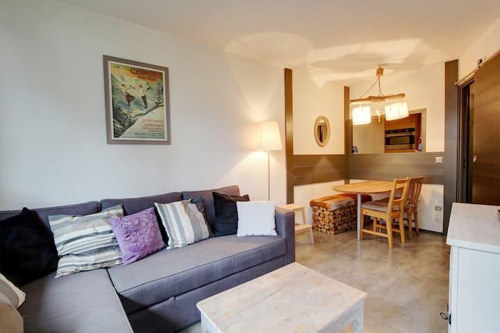 "Central 1-bedroom Chamonix apartment ""Jonquille 5"""